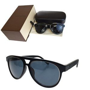 LOUIS VUITTON Sunglasses Damier Plastic Black